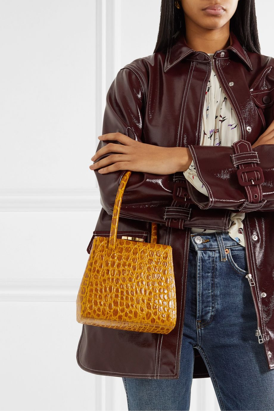 Little Liffner Mademoiselle croc-effect leather tote