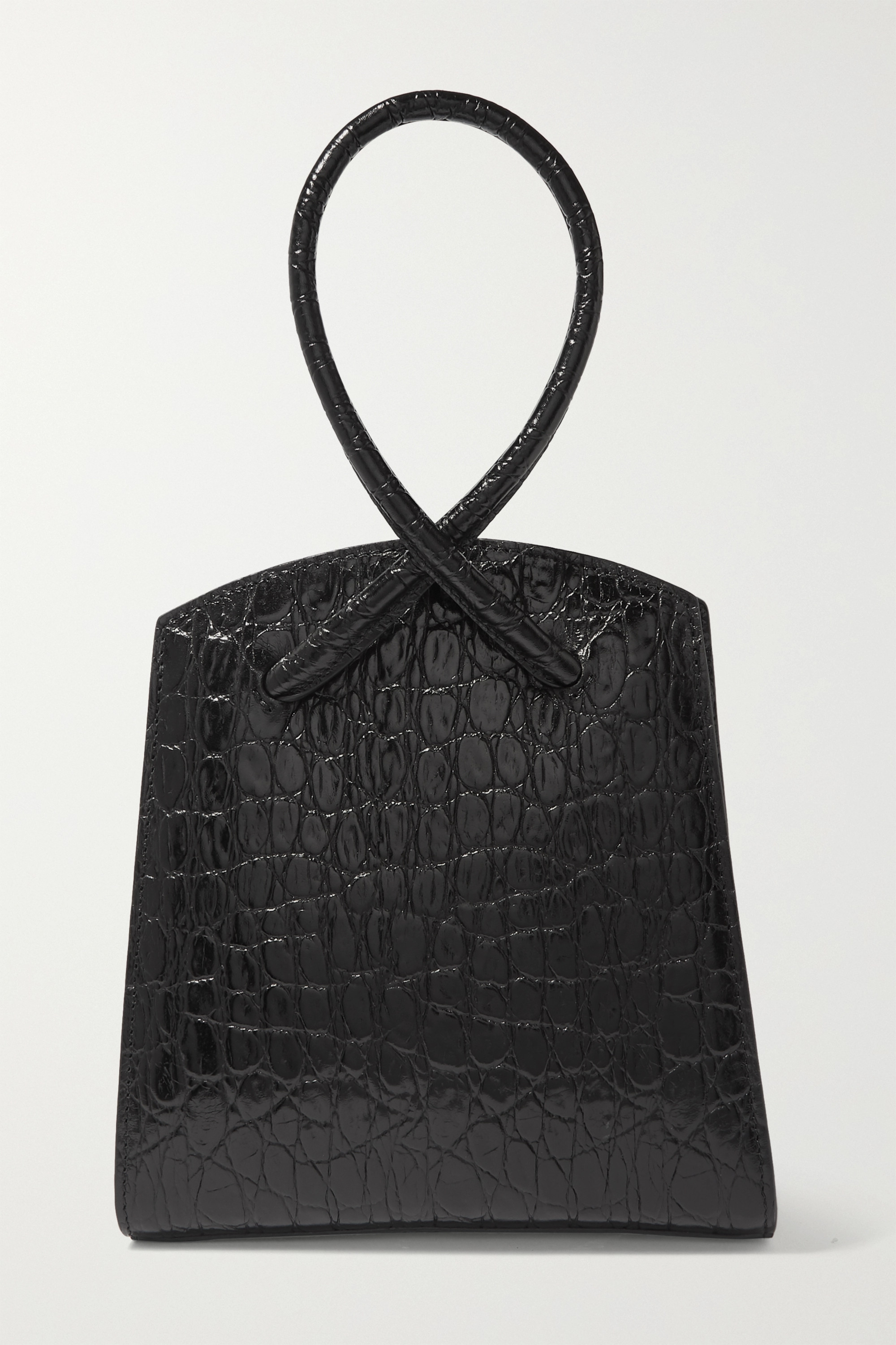 Little Liffner Twisted croc-effect leather tote