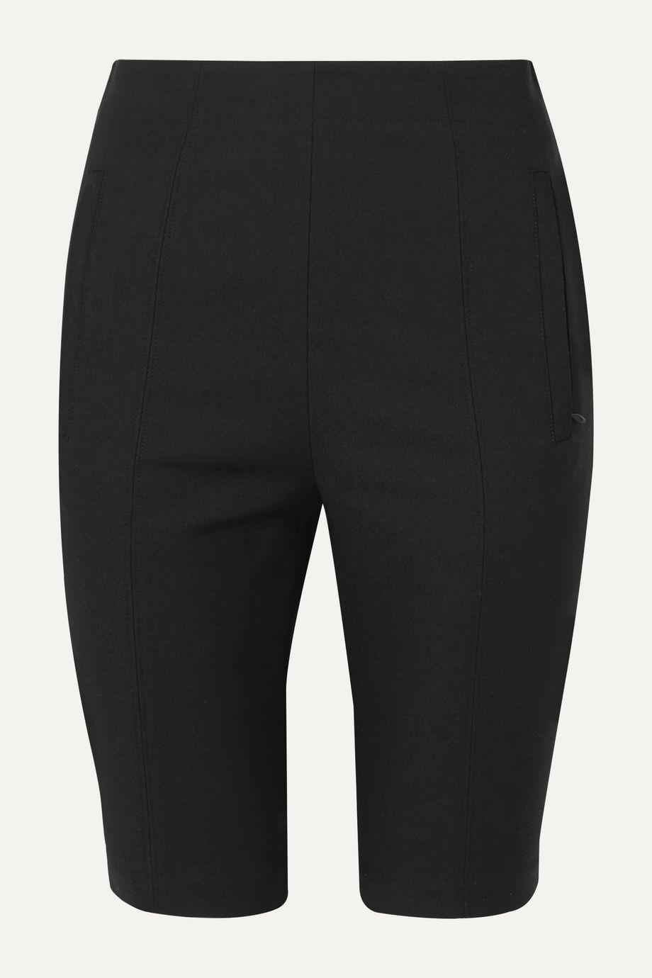 Tibi Stretch cotton-blend twill shorts