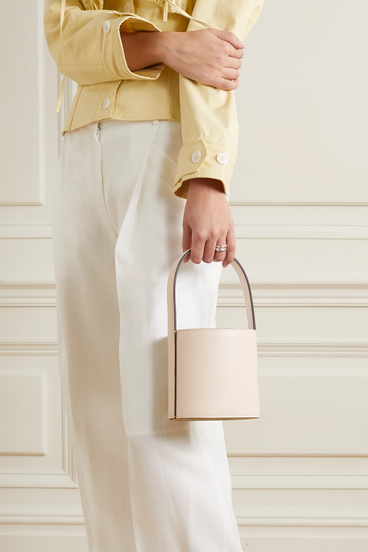 STAUD Bissett mini leather bucket bag