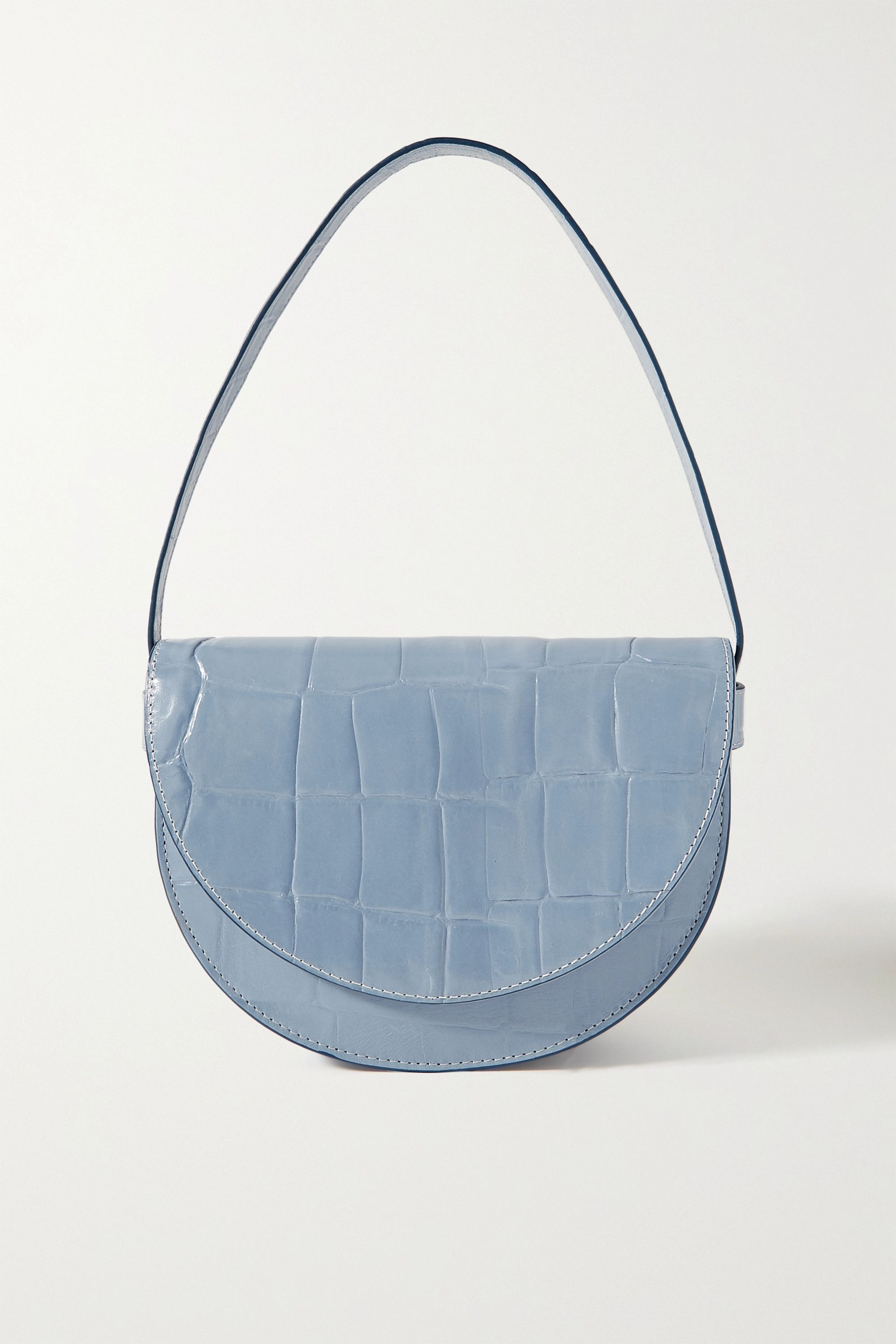 STAUD Amal croc-effect leather shoulder bag