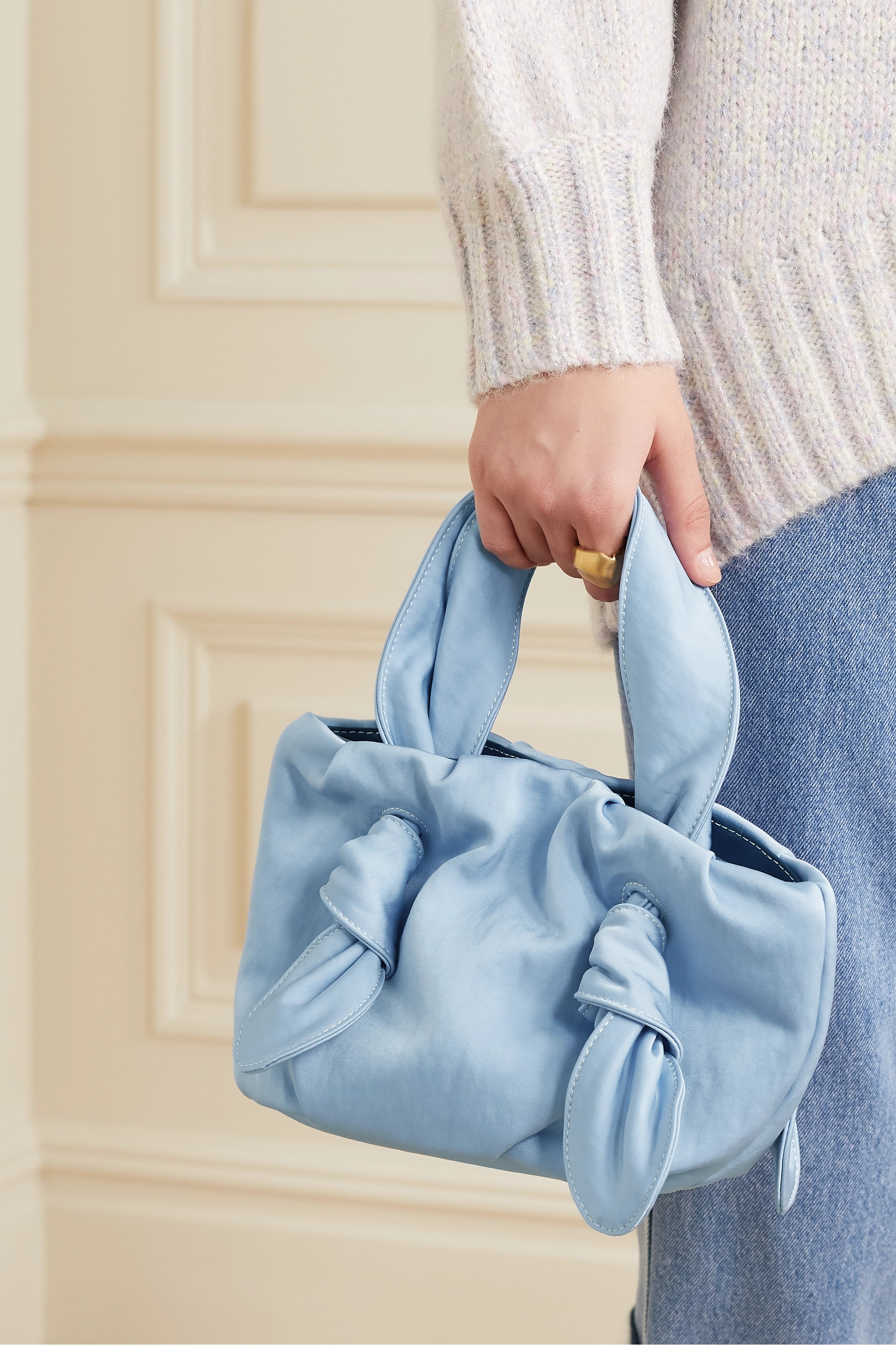 STAUD Ronnie knotted canvas tote