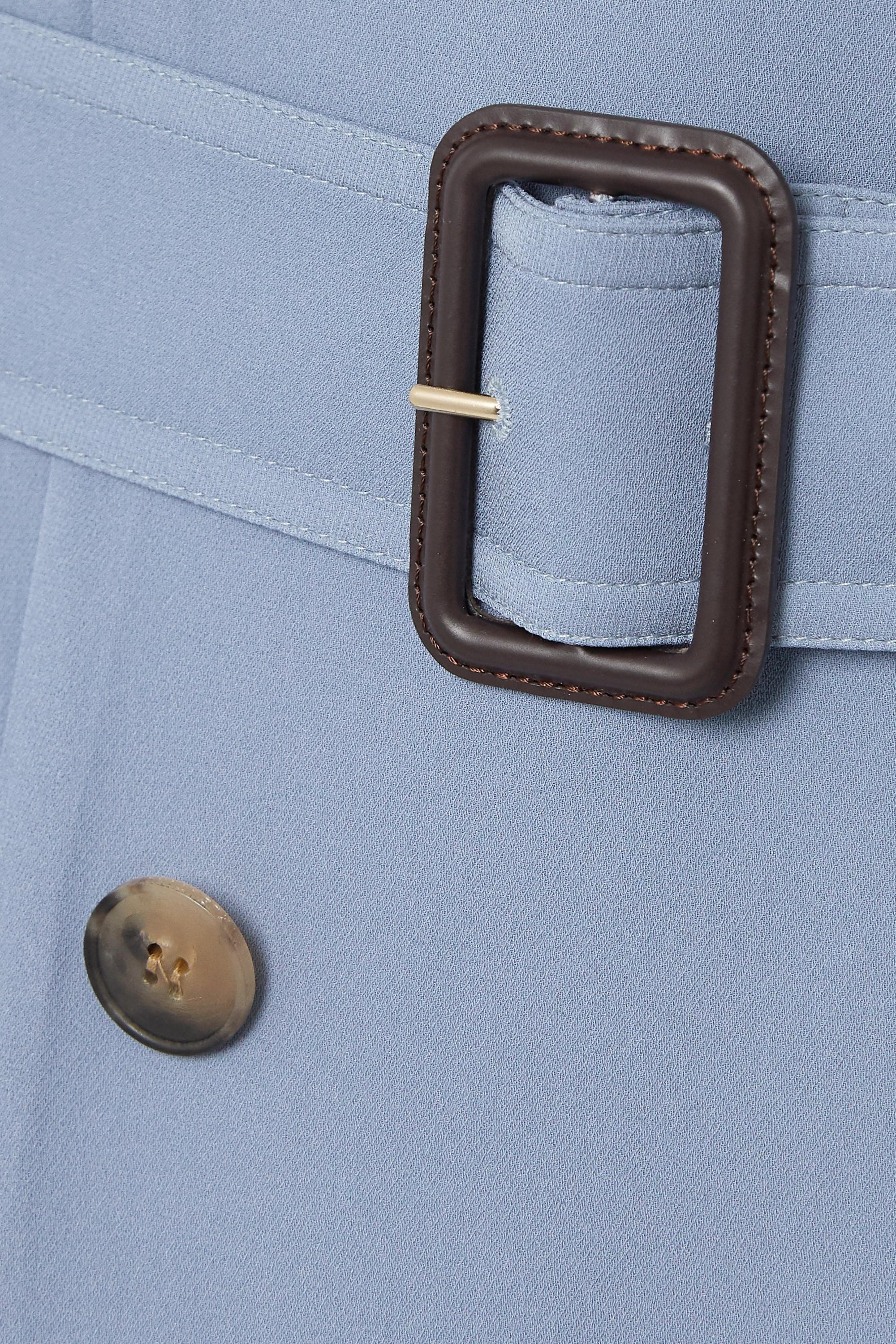 Valentino Trenchcoat aus Seiden-Crêpe mit Plisseefalten