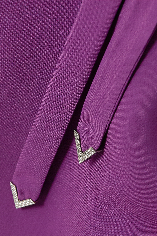 Valentino Maxikleid aus Crêpe mit Bindegürtel