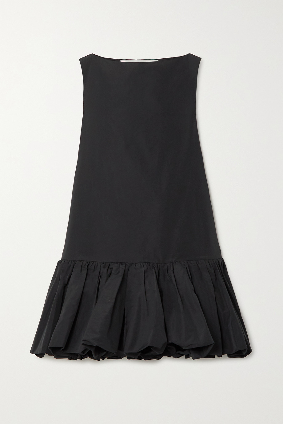 Valentino 棉质混纺罗缎迷你连衣裙