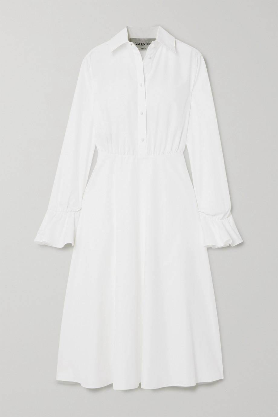 Valentino 棉质混纺府绸中长连衣裙