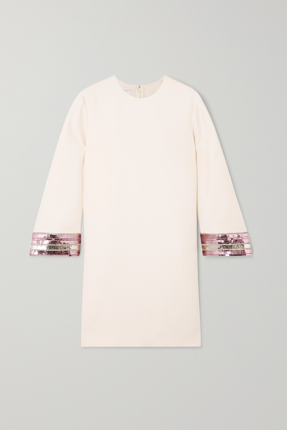 Valentino Sequin-embellished wool and silk-blend crepe mini dress