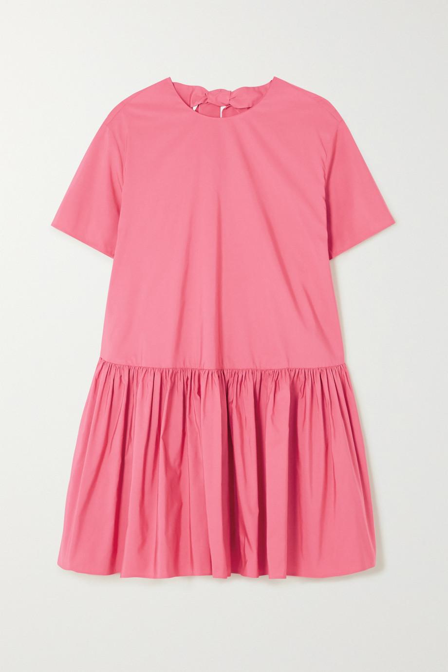 Valentino Cotton-blend poplin mini dress
