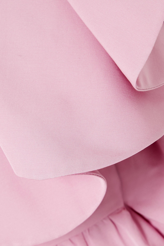 Valentino Robe du soir épaules nues en serge à festons