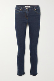 Valentino Cropped mid-rise slim-leg jeans