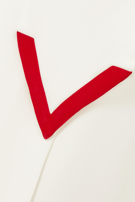 Valentino Jumpsuit mit weitem Bein aus Seiden-Cady