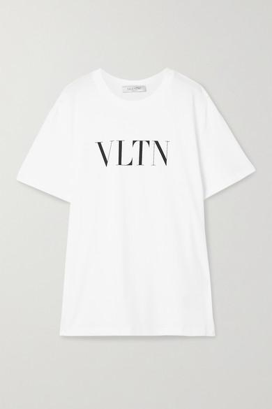 T Shirt Oversize En Jersey De Coton Imprimé by Valentino