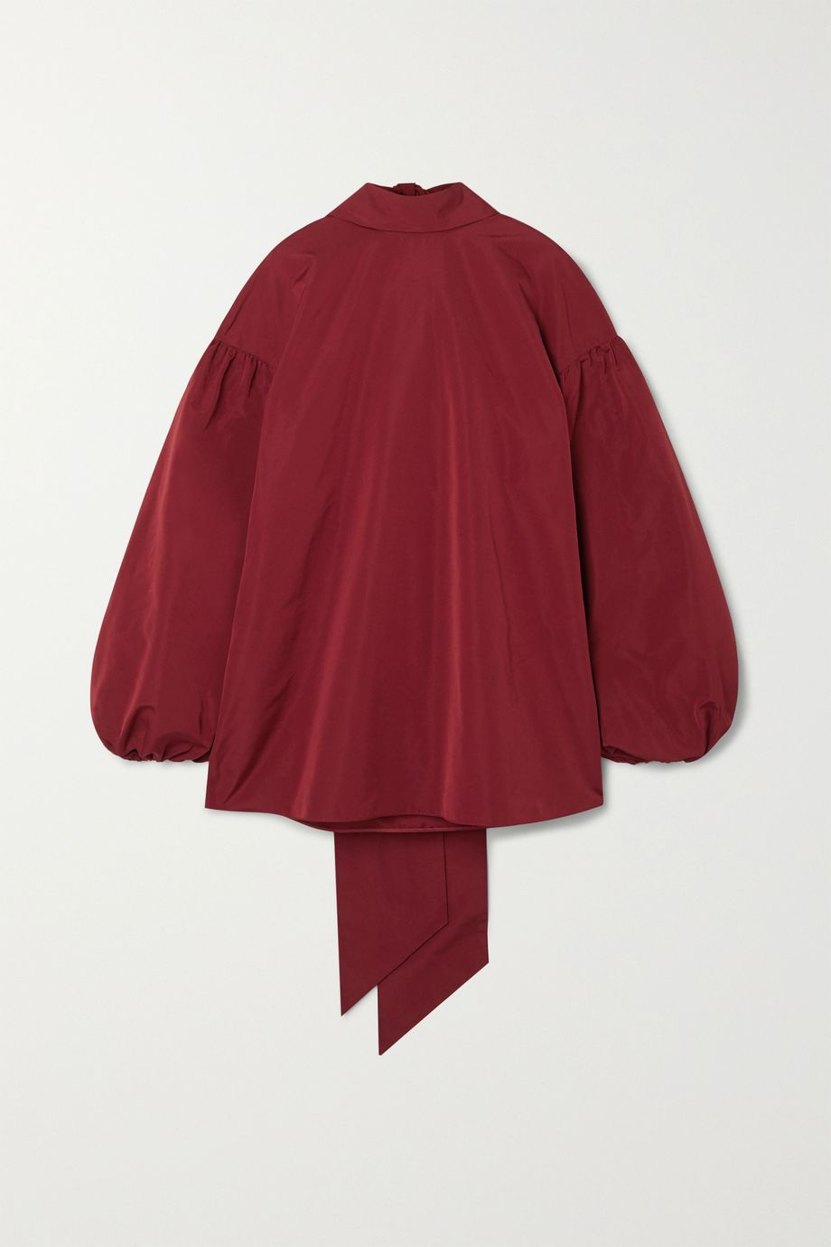 Valentino Oversized tie-detailed cotton-blend poplin blouse