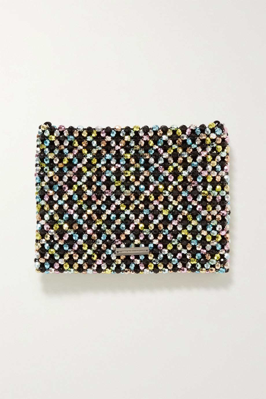 Loeffler Randall Mia beaded satin shoulder bag