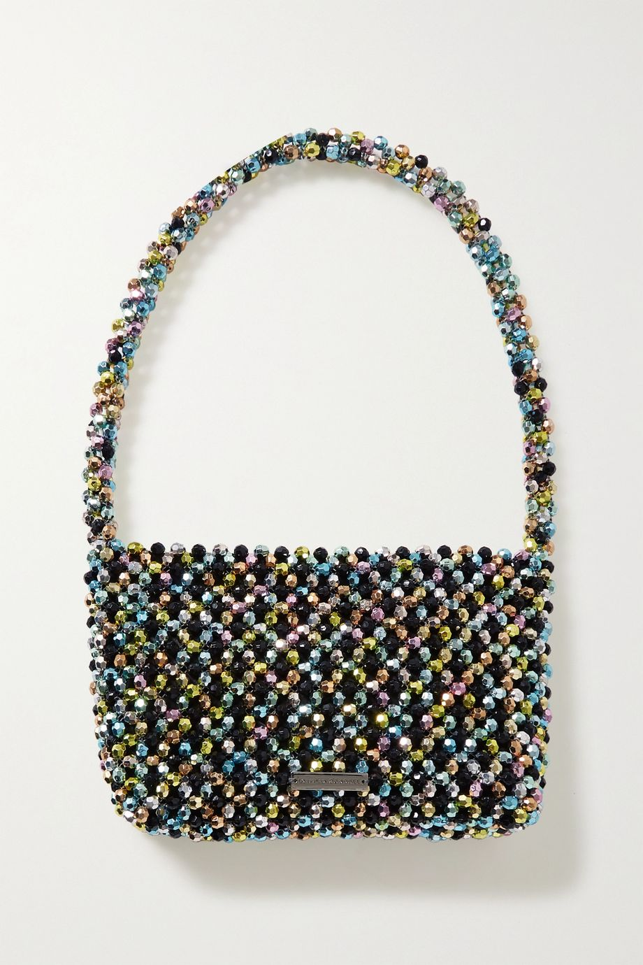 Loeffler Randall Marleigh beaded satin shoulder bag
