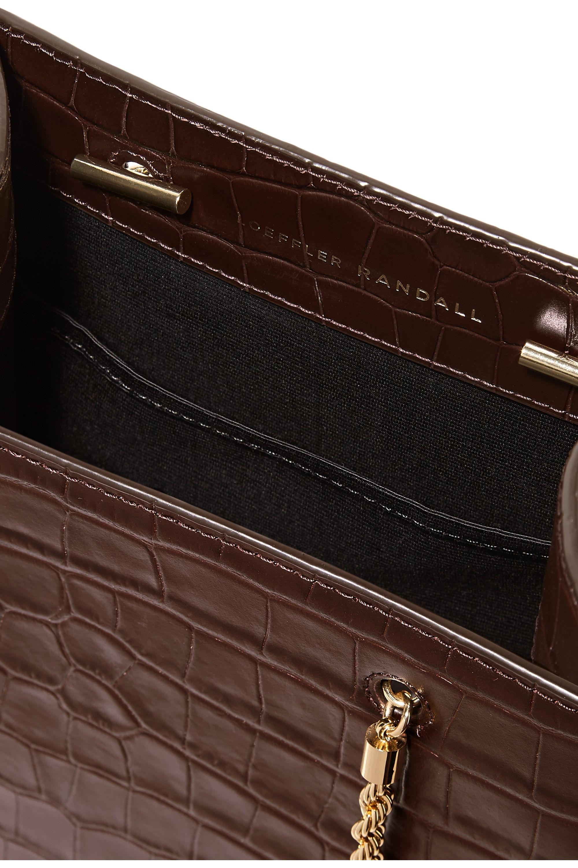 Loeffler Randall Antoinette croc-effect leather tote