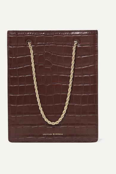 Antoinette Croc Effect Leather Tote by Loeffler Randall