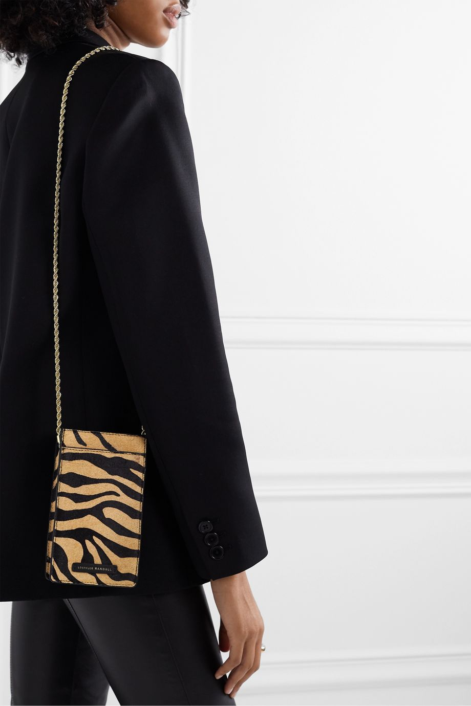 Loeffler Randall Augusta tiger-print calf hair shoulder bag