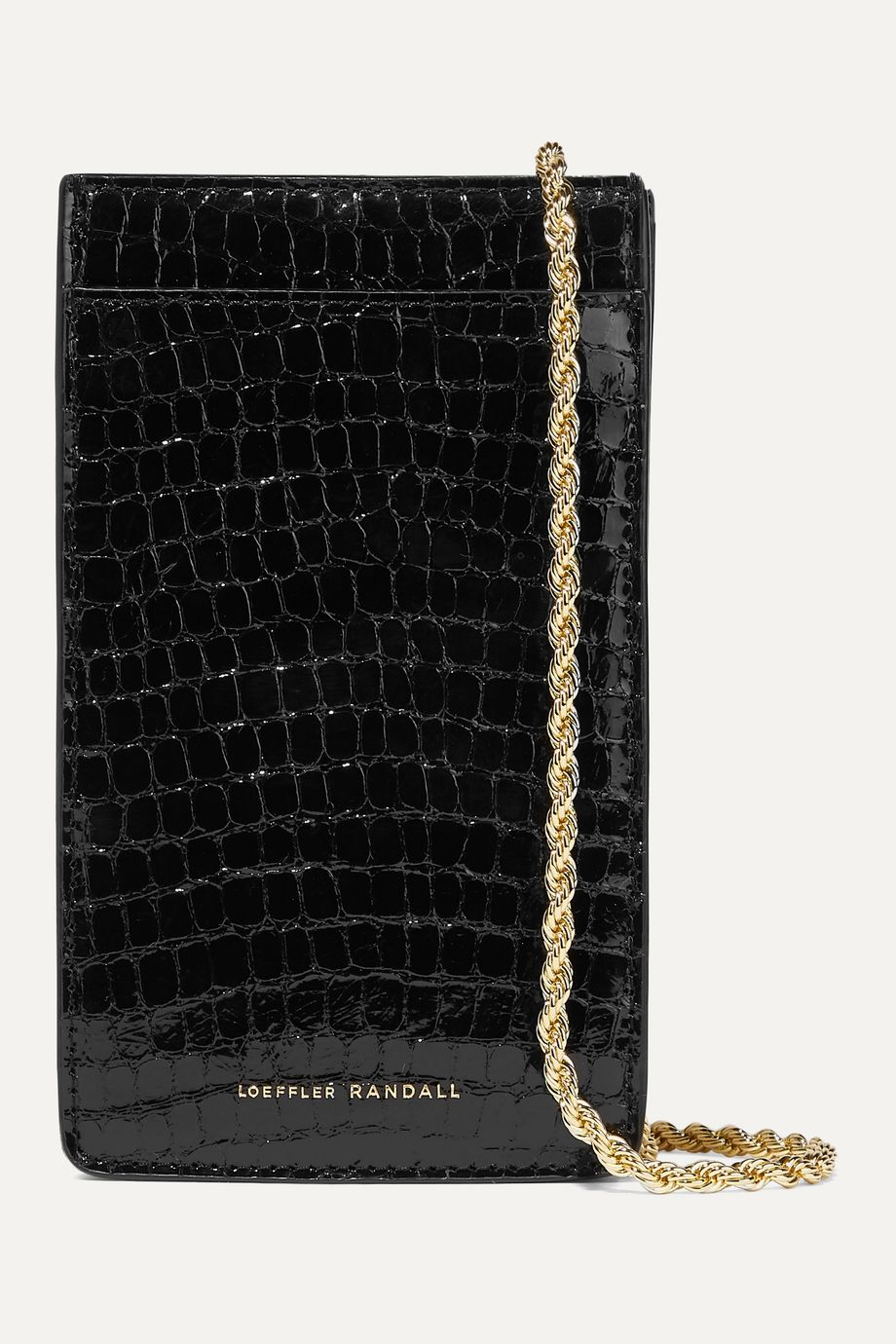 Loeffler Randall Augusta croc-effect patent-leather shoulder bag