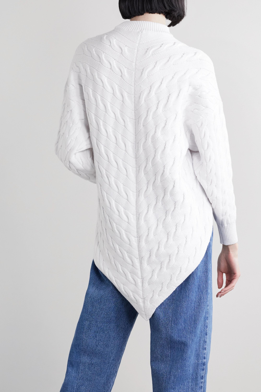 Alexander Wang Asymmetric cable-knit cotton-blend sweater