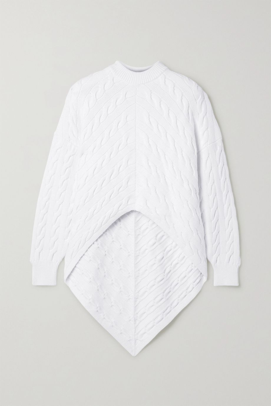 Alexander Wang Asymmetric cable-knit cotton-blend sweater
