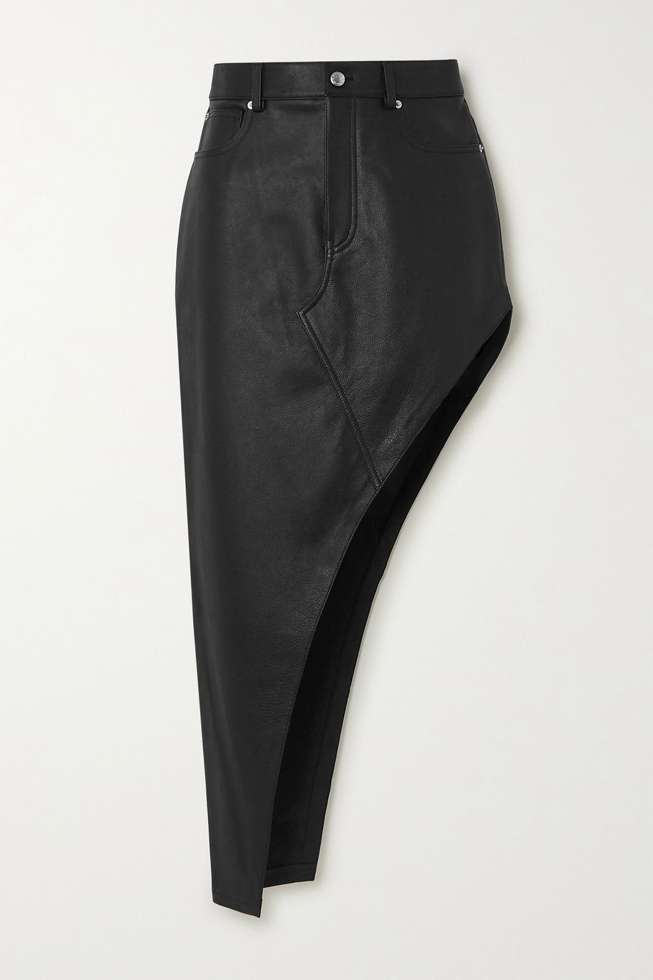 Alexander Wang Asymmetric leather skirt