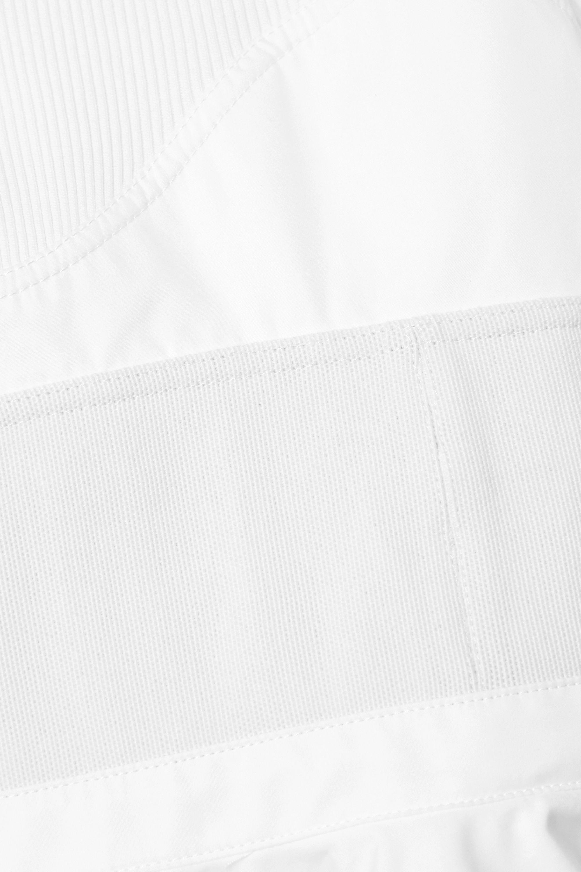 Alexander Wang Paneled cotton-poplin, ribbed jersey and canvas mini dress