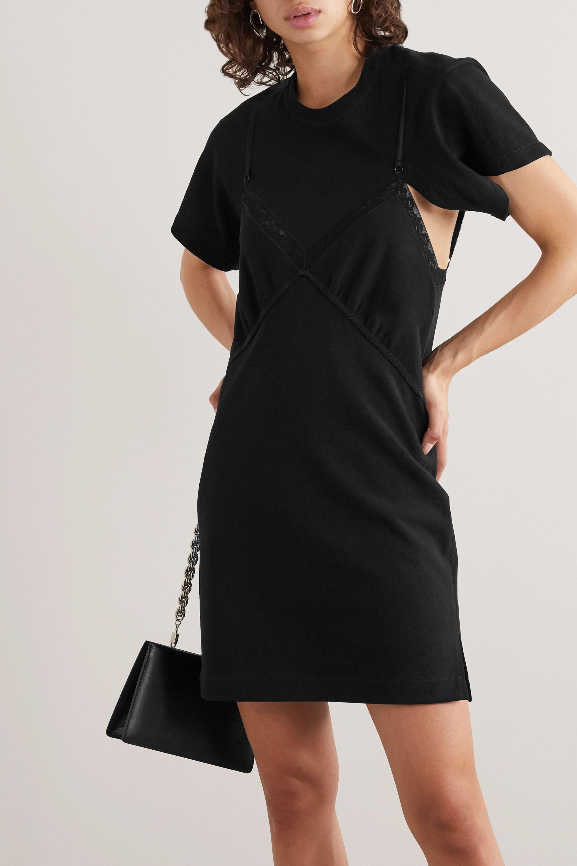 Alexander Wang Cutout lace-trimmed cotton-jersey mini dress