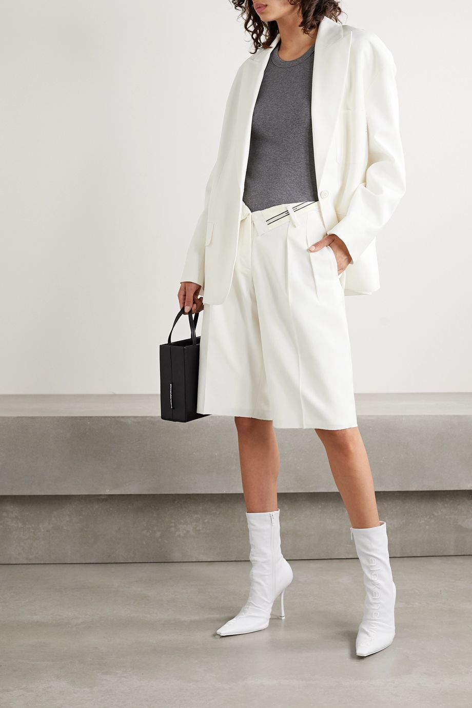 Alexander Wang Fold-over woven shorts