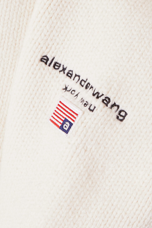Alexander Wang Embroidered wool-blend sweater