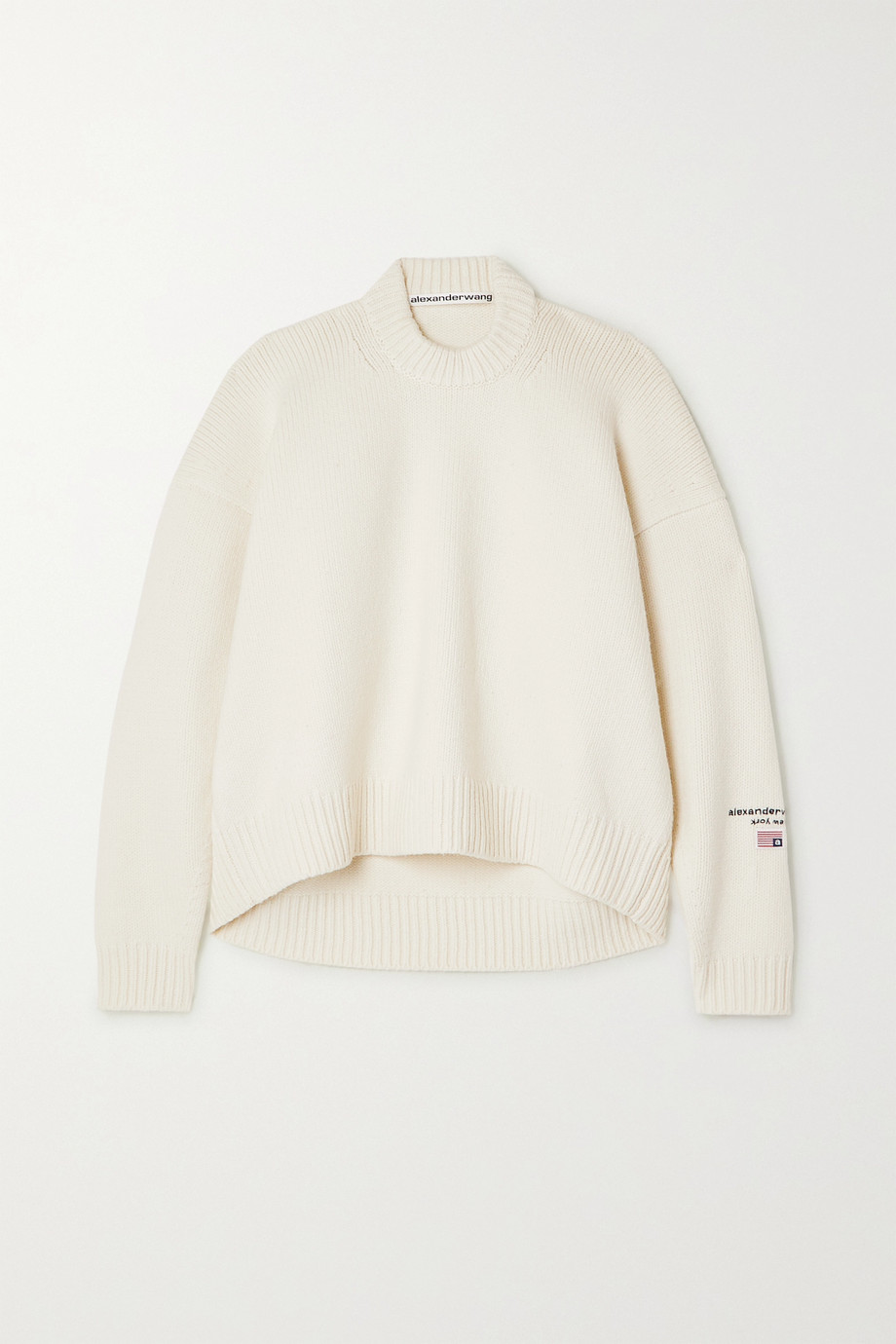 Alexander Wang Embroidered wool-blend sweater