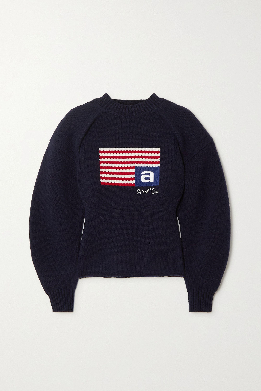 Alexander Wang Intarsia wool-blend sweater