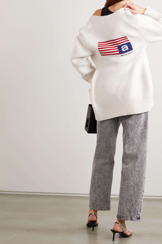 Alexander Wang Intarsia wool-blend cardigan