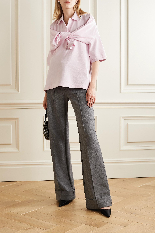 Alexander Wang Tie-front cotton-jersey polo shirt