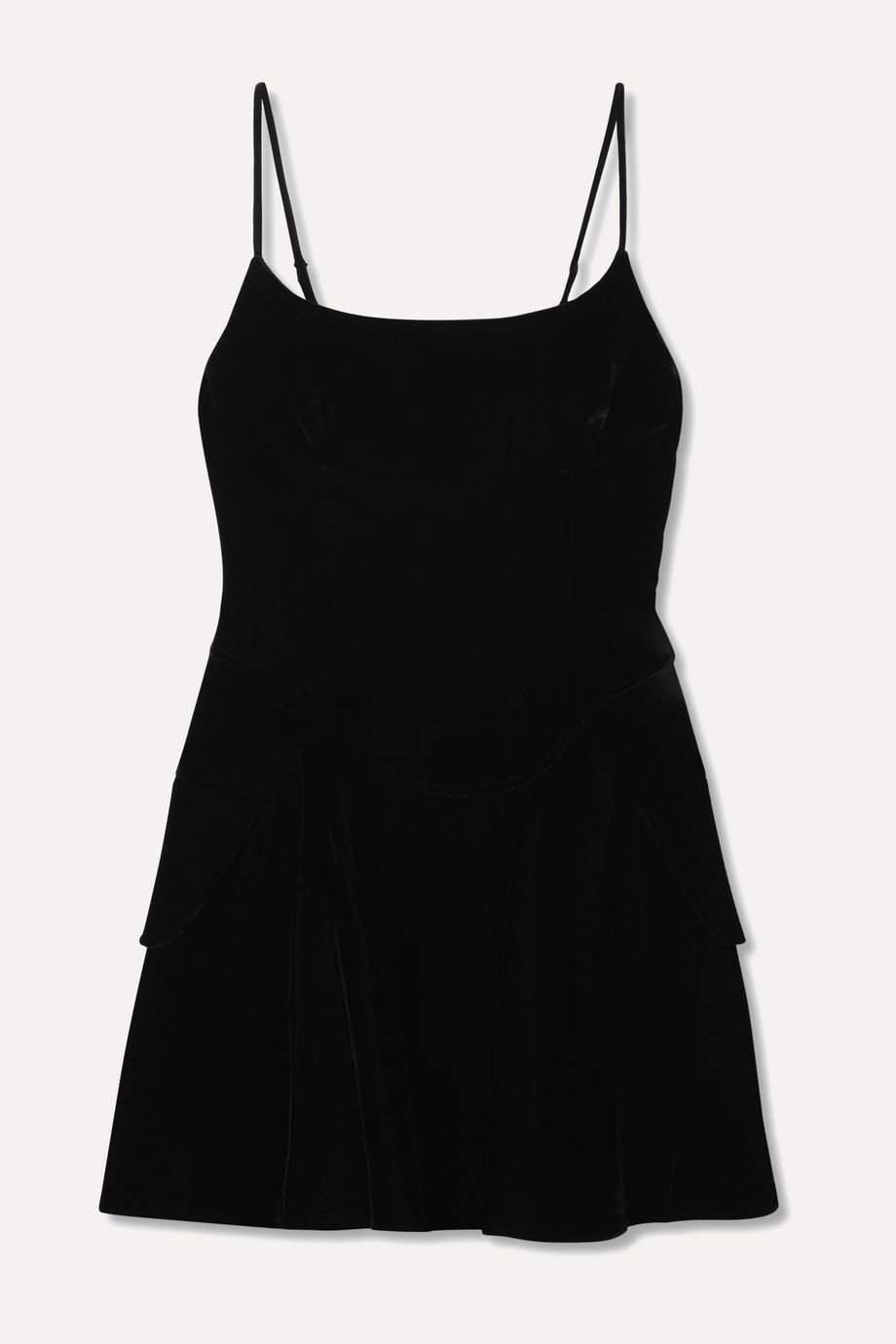 Alexander Wang Layered velvet mini dress