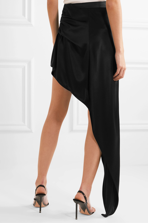 Alexander Wang Asymmetric draped satin mini skirt