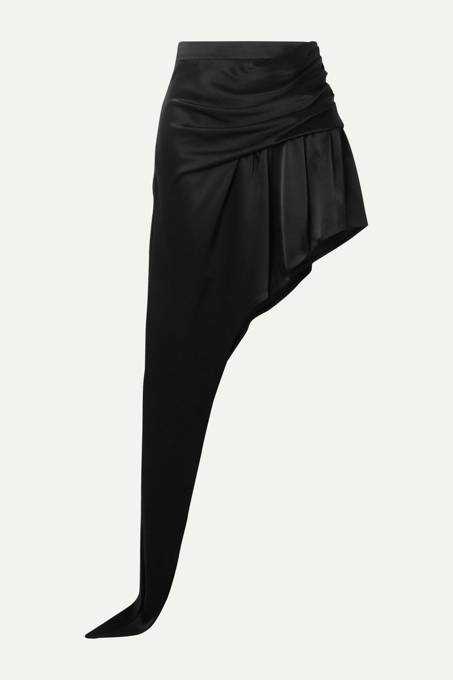 Alexander Wang Asymmetric draped satin mini skirt