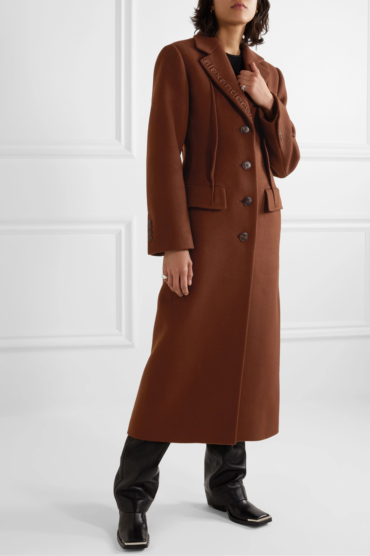 Alexander Wang Embroidered wool-blend felt coat