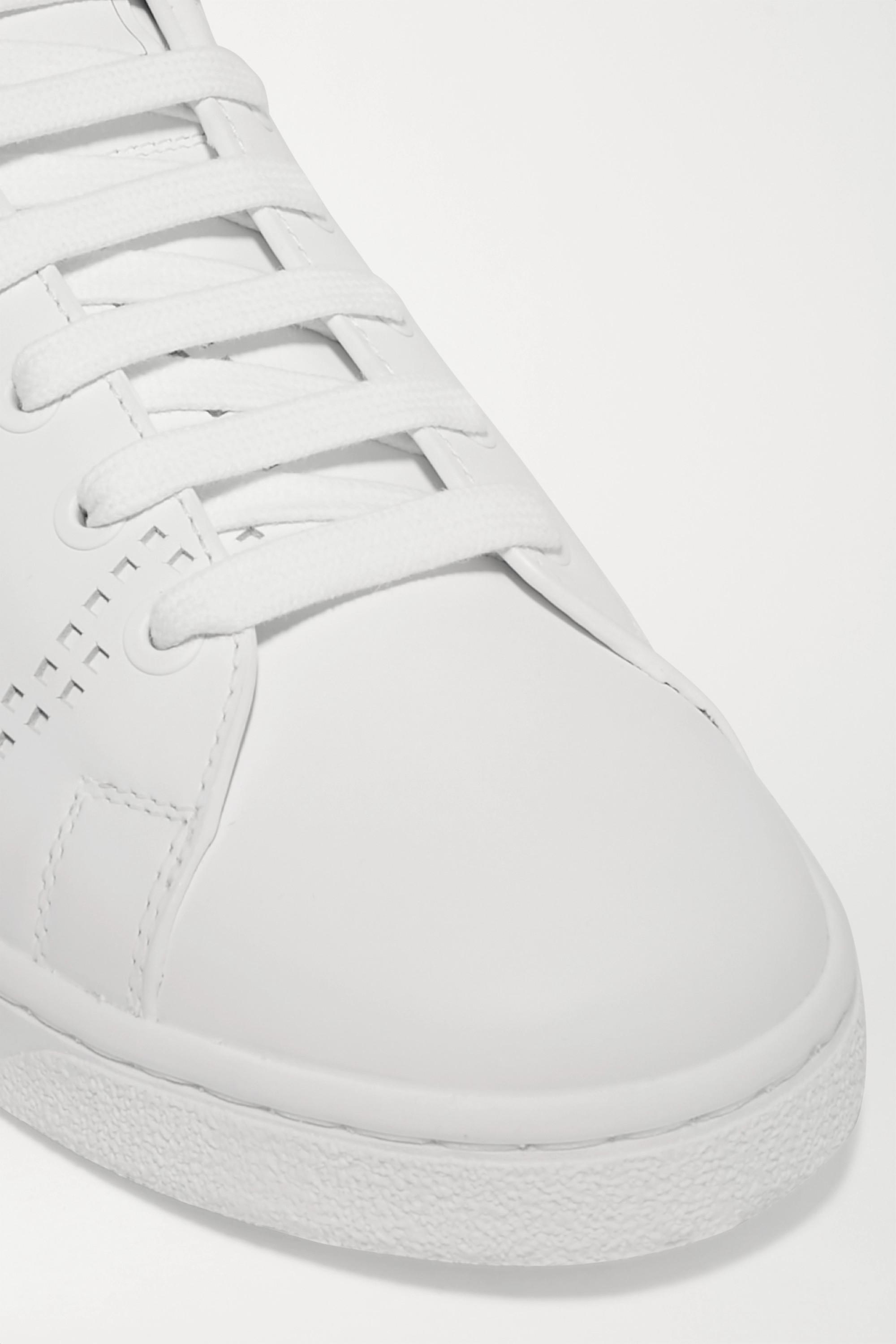 Valentino Valentino Garavani Backnet logo-perforated leather sneakers