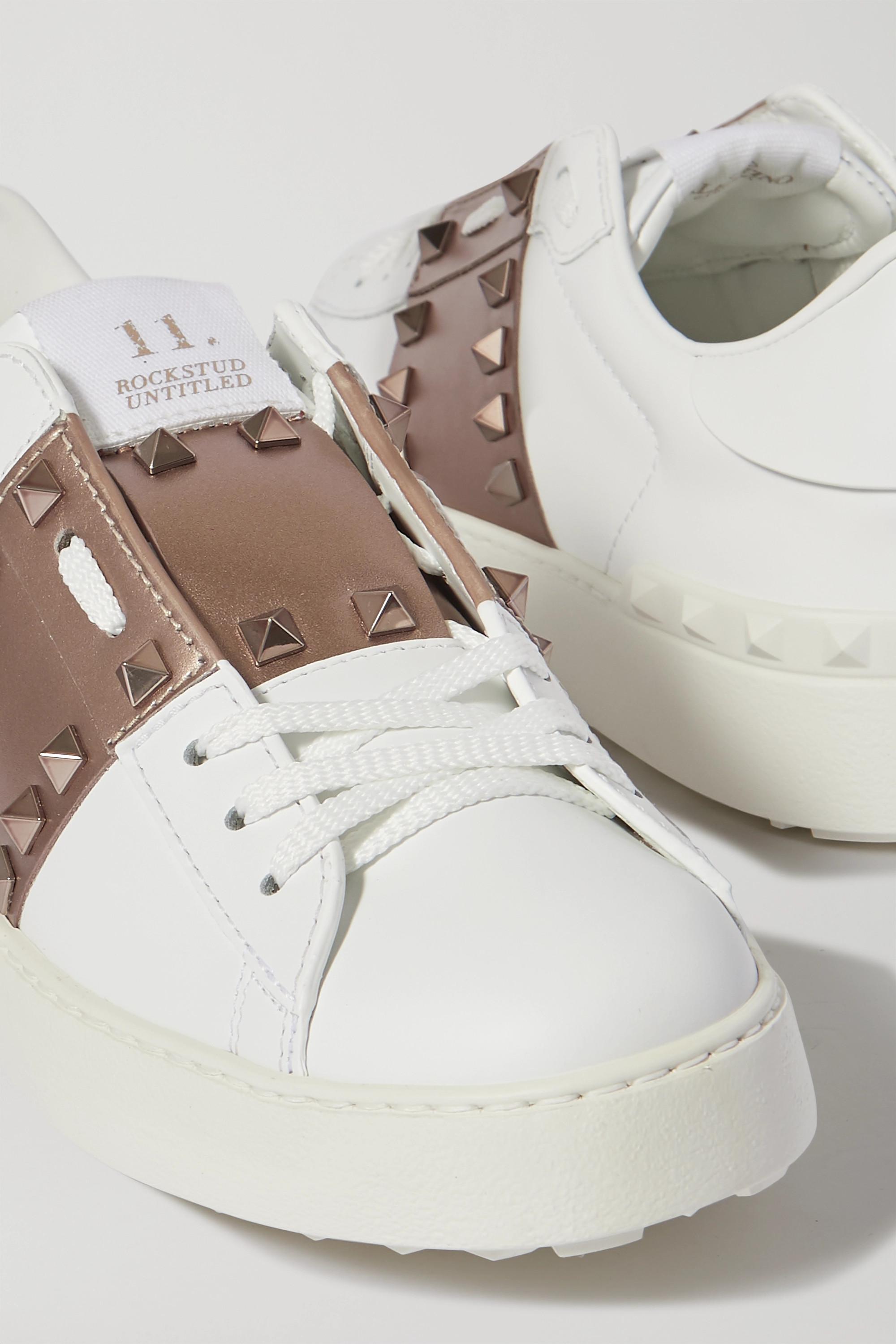 Valentino Valentino Garavani Open metallic leather sneakers