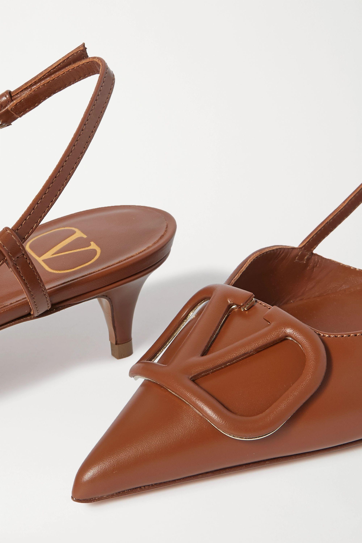 Valentino Valentino Garavani Go Logo leather slingback pumps