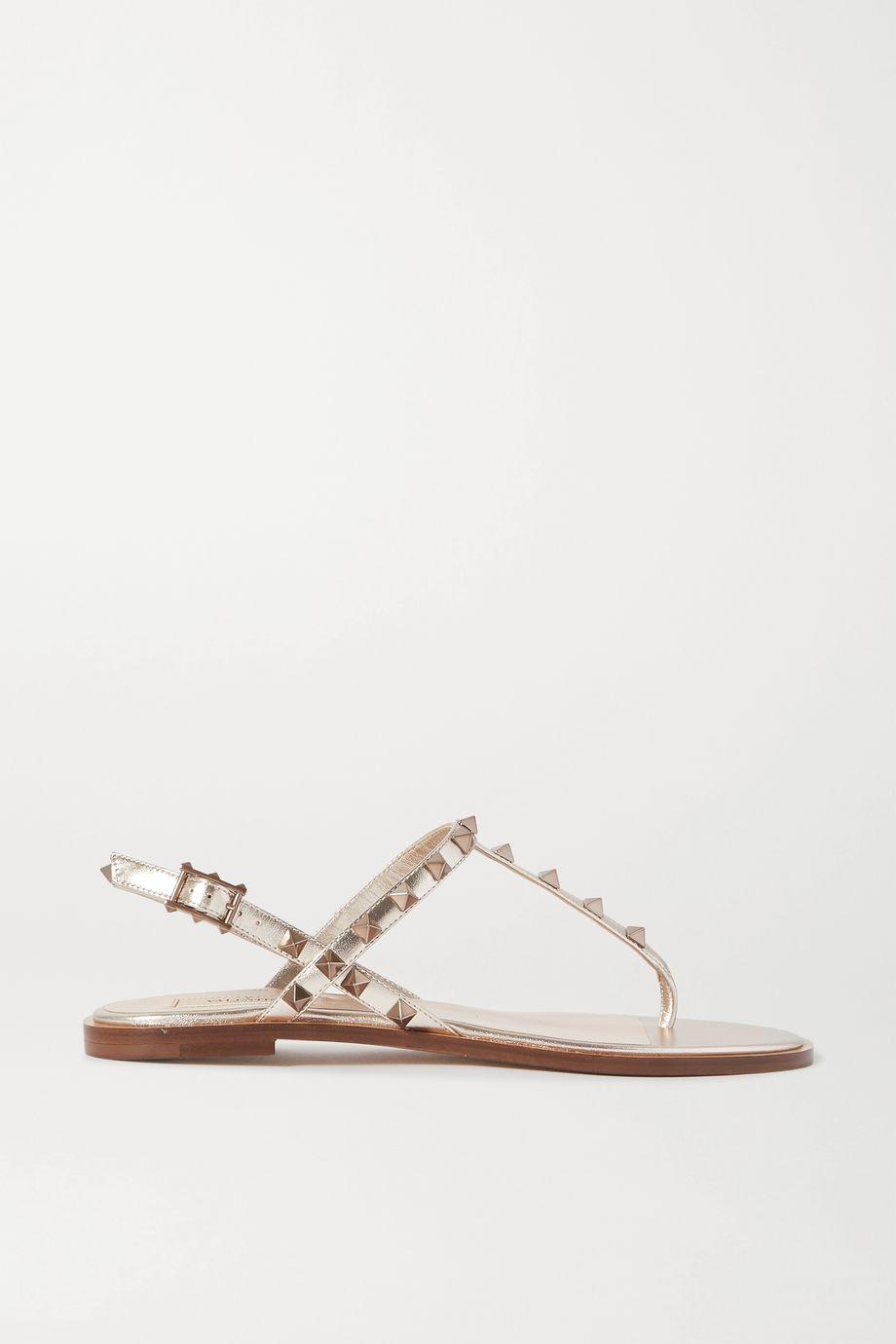 Valentino Valentino Garavani The Rockstud metallic leather sandals
