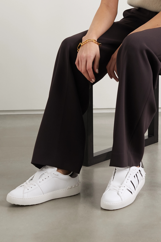 Valentino Valentino Garavani logo-print leather sneakers