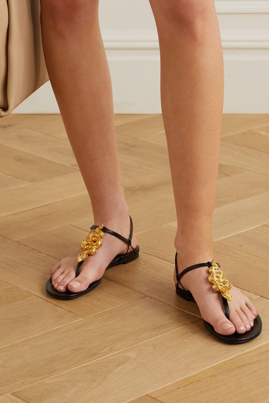 Valentino Valentino Garavani Maison Snake leather sandals