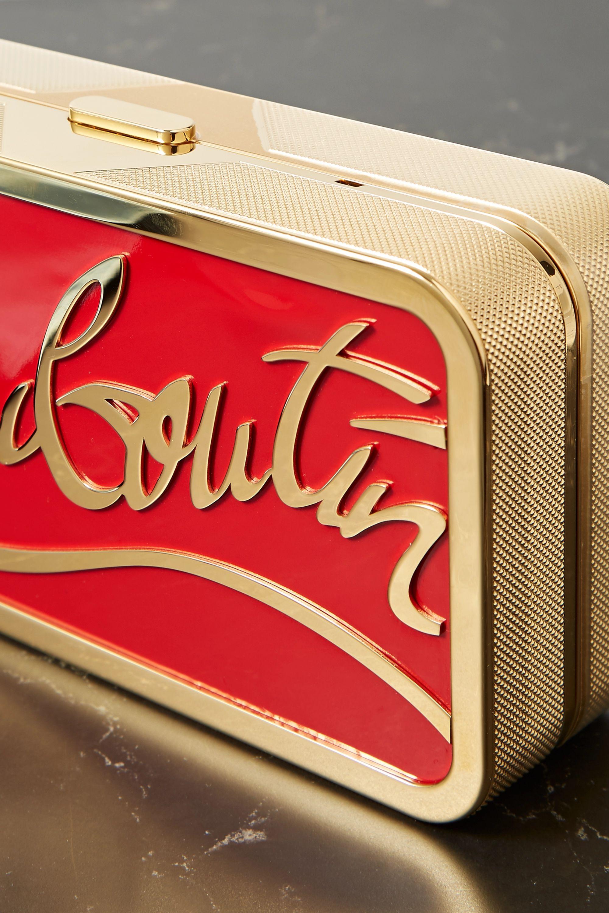Christian Louboutin Bing Bong gold-tone and enamel clutch