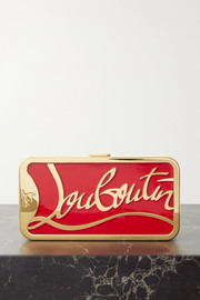Christian Louboutin Bing Bong gold-tone and enamel clutch