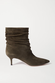 Gianvito Rossi Cecile 55 ruched suede ankle boots