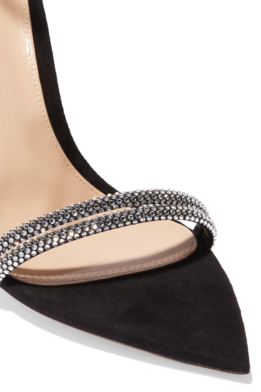 Gianvito Rossi Camnero 105 水晶缀饰绒面革凉鞋