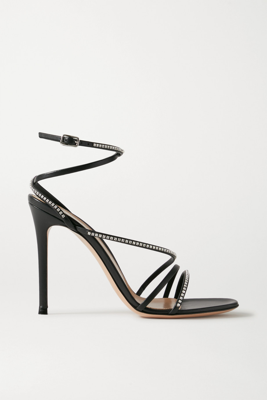 Gianvito Rossi 105 crystal-embellished leather sandals