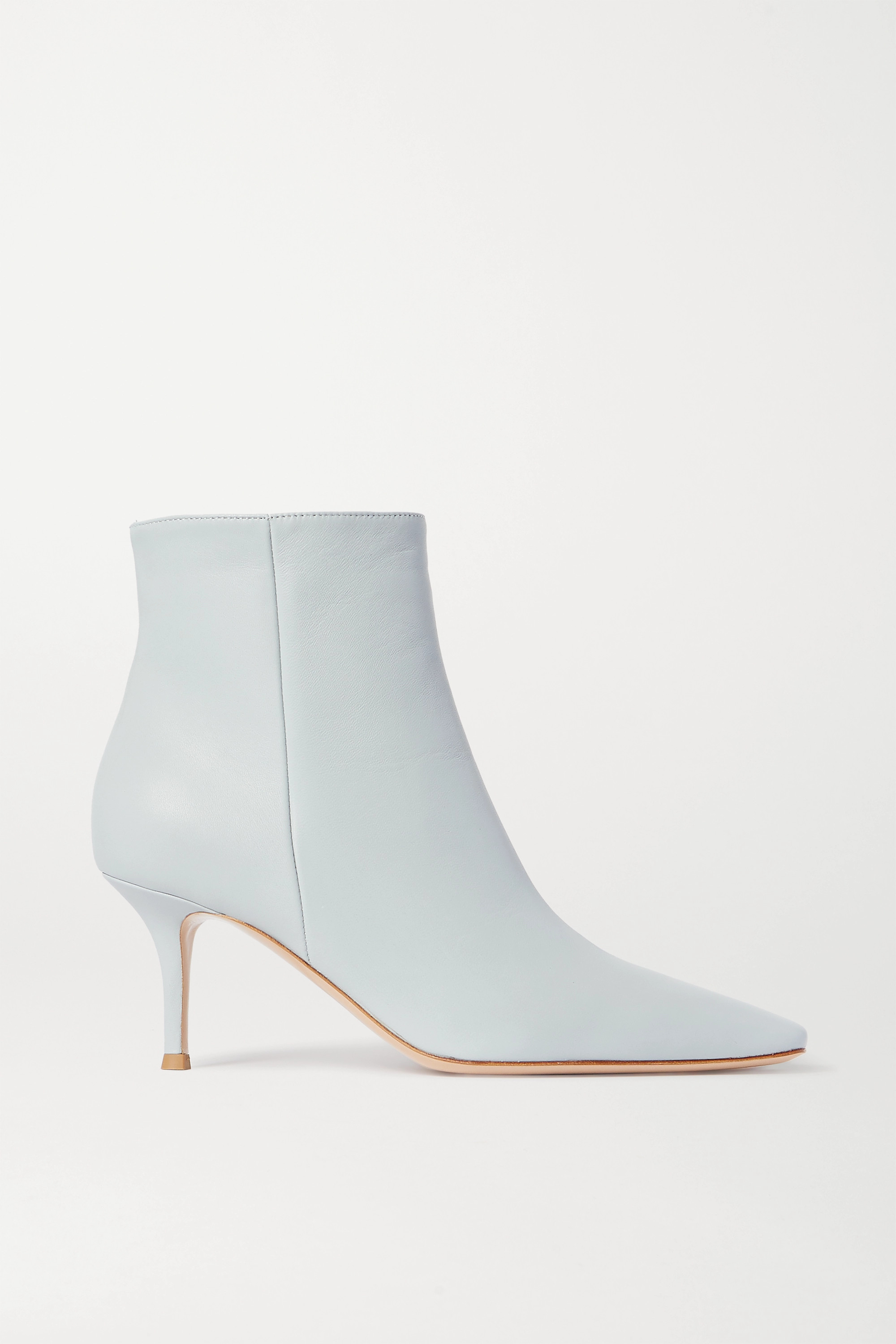 Light blue 70 leather ankle boots